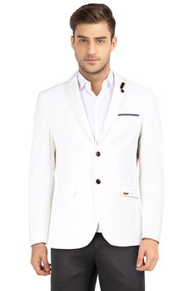 Mens Notched Lapel Self Printed Blazer