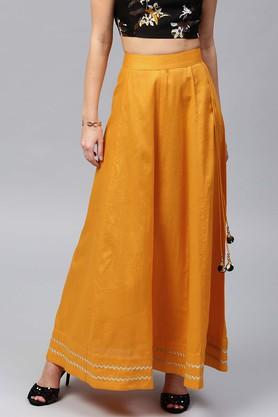 SASSAFRAS Womens Solid Long Skirt - 204059015_9418