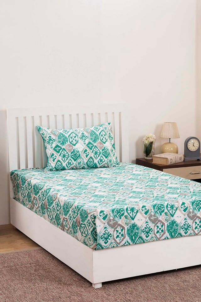 Abstract Single Bedsheet with Pillow Cover
