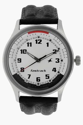 FASTRACK White Dial Leather Strap Analog Watch - NG3001SL01