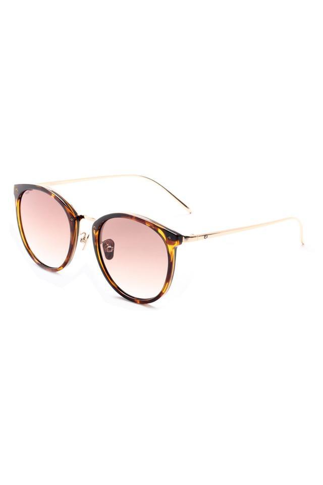 Unisex Full Rim Round Sunglasses - 2130 C2 S