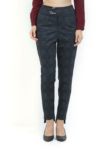 Womens Checked Casual Trousers
