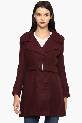 VAN HEUSENWomens Collared Self Pattern Jacket