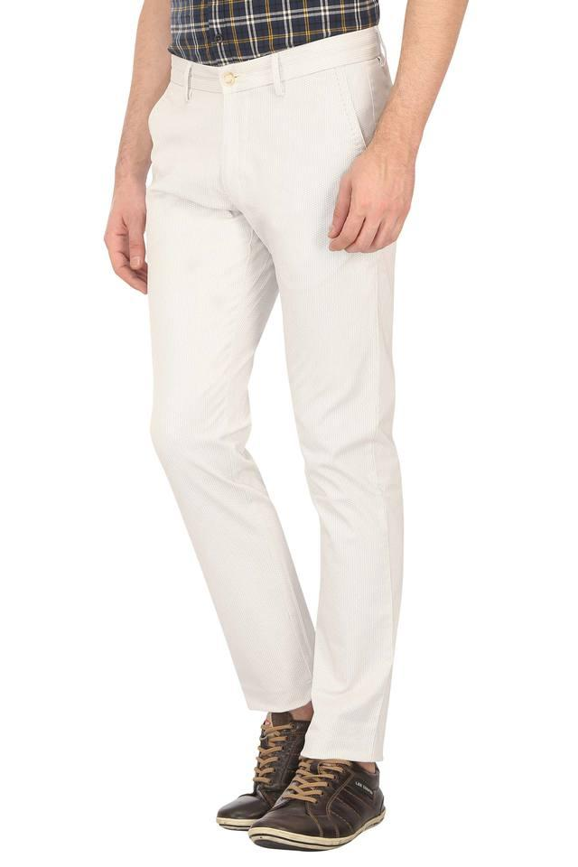 Mens 4 Pocket Self Printed Trousers