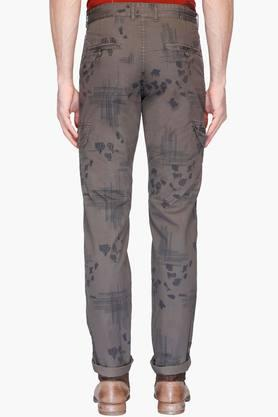 Mens 4 Pocket Printed Trousers
