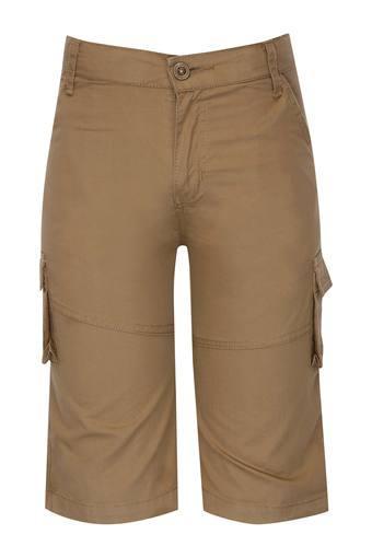 Boys 6 Pocket Solid Cargo Shorts