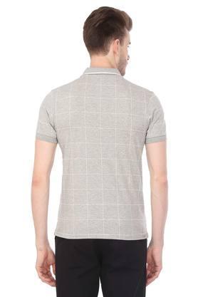 Mens Checked Polo T-Shirt