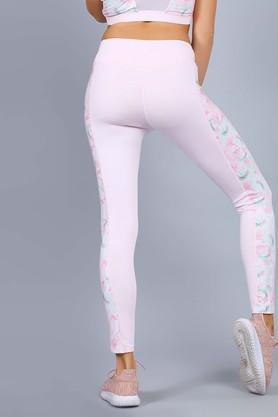 Womens Floral Print Tights