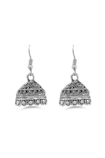 Womens Silver Plated Jhumkas