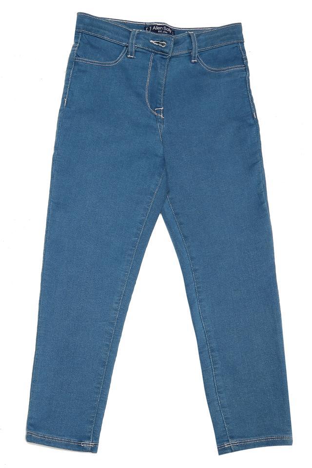 Girls 4 Pocket Rinse Wash Jeans