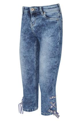 Girls 5 Pocket Stone Wash Jeans