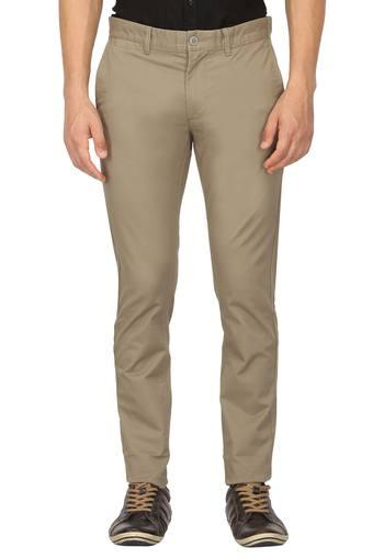 INDIAN TERRAIN -  Dark Brown Formal Trousers - Main