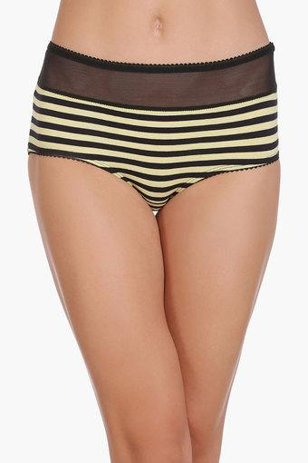 Womens Mid Waist Printed Hipster Briefs