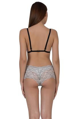 Womens Plunge Bra and Hipsters Set