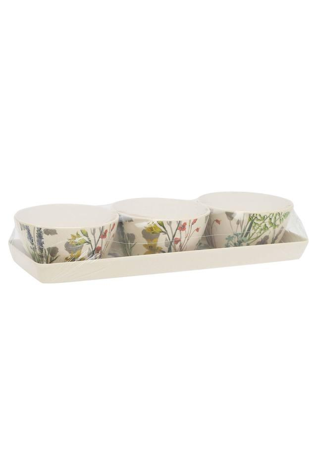 Round Printed Snack Bowl with Tray