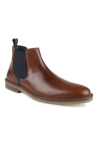 Mens Leather Slipon Boots