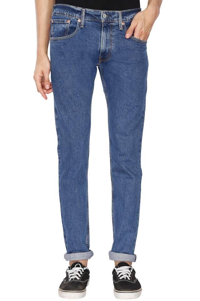 Mens 5 Pocket Stone Wash Jeans (65504)