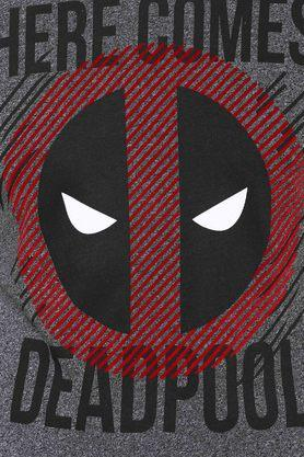 Mens Round Neck Graphic Deadpool Printed T-Shirt