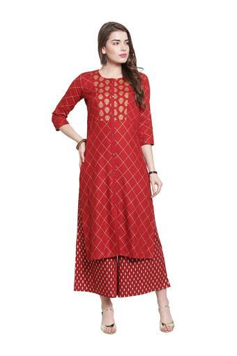 VARANGA -  MaroonSalwar & Churidar Suits - Main