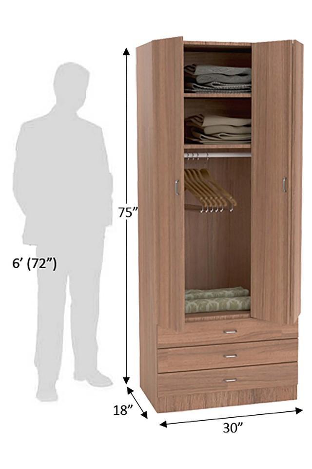 Brown Neon 1 Door wardrobe
