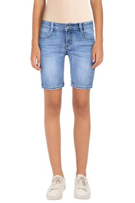 b574f985af X DEAL JEANS Womens Whiskered Effect Shorts