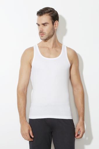 Mens Round Neck Solid Vest Pack of 2