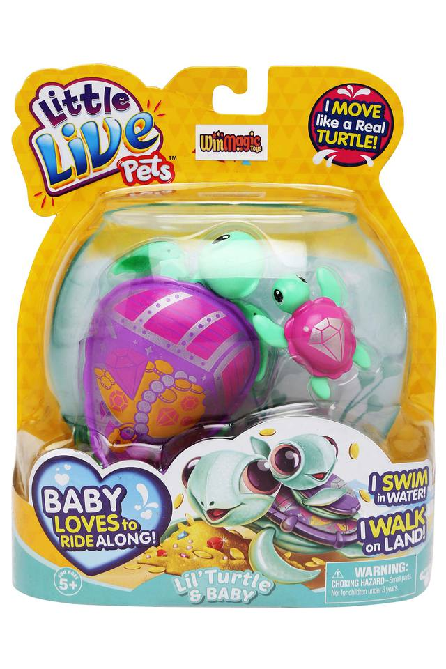 Unisex Little Live Pets Lil Turtle and Baby