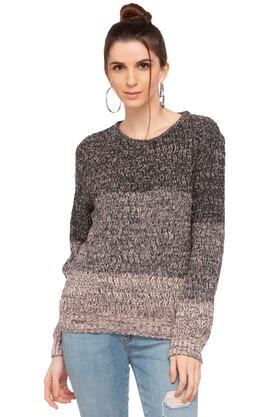 RS BY ROCKY STAR Womens Round Neck Knitted Sweater