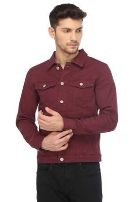 JACK AND JONES Mens Solid Casual Jacket
