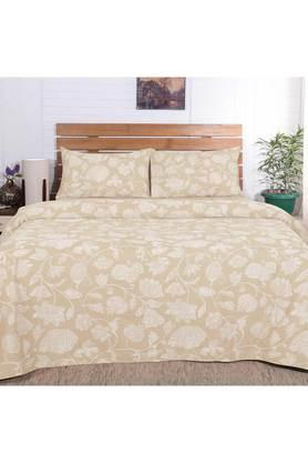 Flamboyance Clarissa Print King Size Bedsheet with 2 Pillow Covers