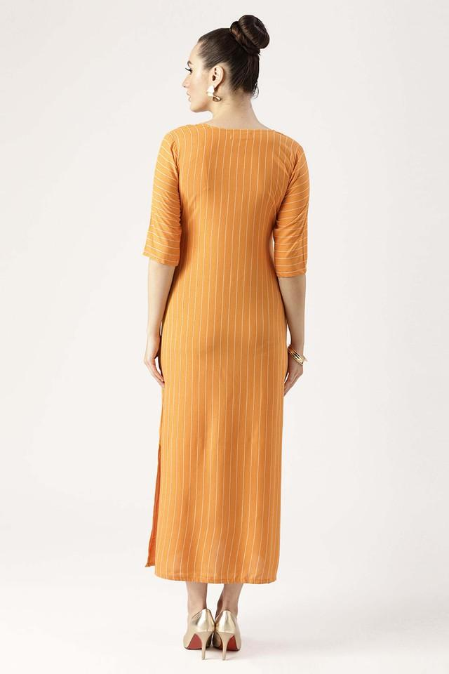 Womens V-Neck Striped A-Line Dress