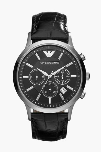 Mens Analogue Leather Watch - AR2447