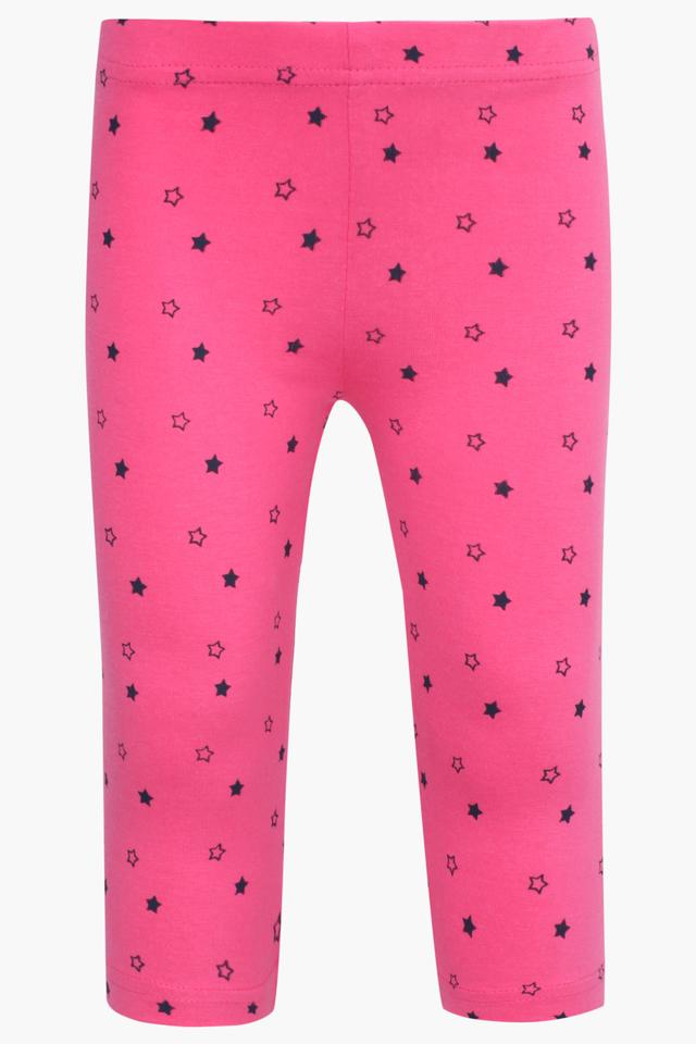 Girls Solid and Printed Pyjamas - Pack Of 3