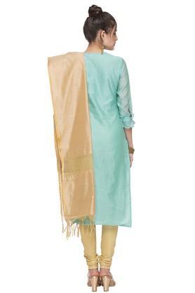 Womens Round Neck Embellished Churidar Suit