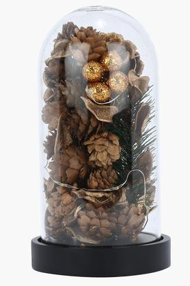 IVYDome Bottle Lamp With Dry Flowers