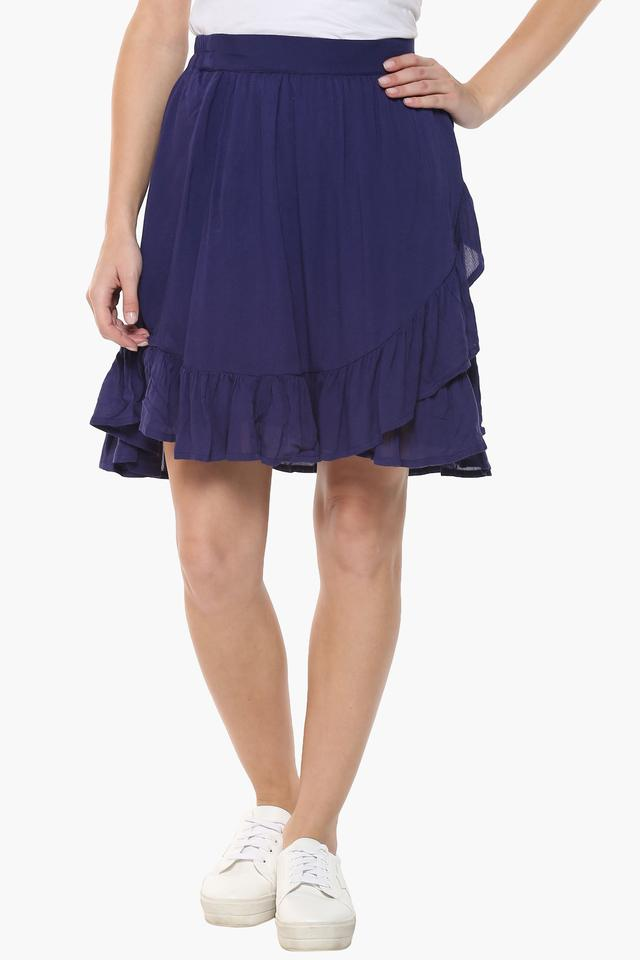 Womens Solid Casual Skirt