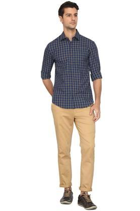 Mens Slim Collar Check Shirt (Kashmir)