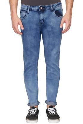 Mens 5 Pocket Acid Wash Jeans