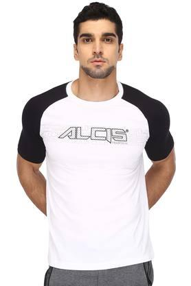 ALCIS Mens Round Neck Colour Block T-Shirt