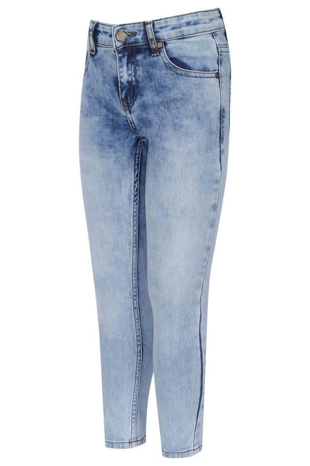 Boys 5 Pocket Solid Jeans