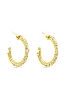 Womens Stone Studded Hoop Earrings