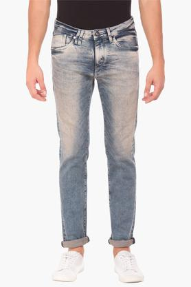 FLYING MACHINEMens Skinny Fit Stone Wash Jeans (Jackson Fit) - 202896848