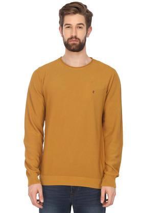 LOUIS PHILIPPE JEANSMens Round Neck Slub Sweater