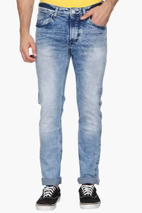 72eeeed7e2 X BEING HUMAN Mens Skinny Fit Stone Wash Jeans