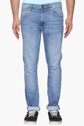 LEEMens 5 Pocket Skinny Fit Stone Wash Jeans (Luke Fit)