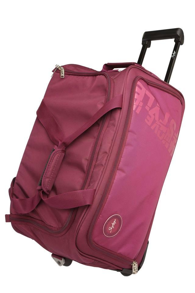Unisex Zip Closure Soft Duffle Trolley