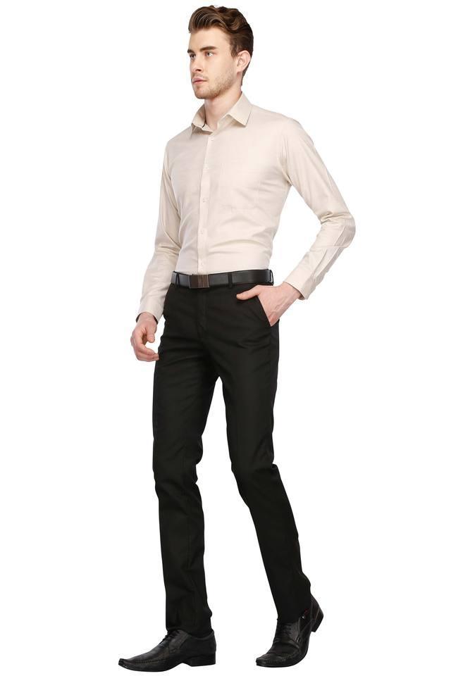 Mens Regular Collar Slub Shirt
