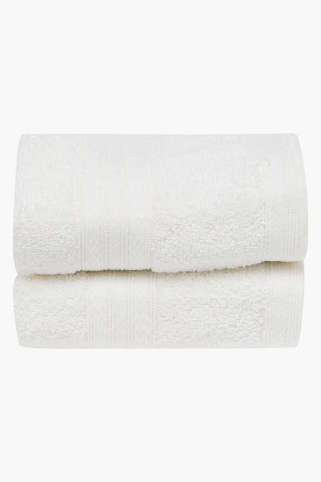 Slub Textured Hand Towel Set Of 2
