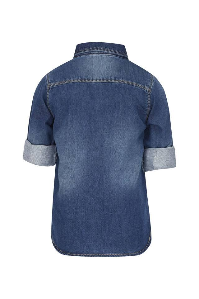 Boys 2 Pocket Washed Shirt