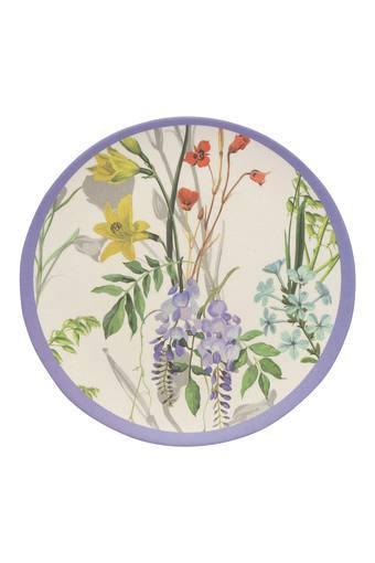 Round Botanical Garden Printed Side Plate